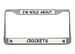 Cricket License Plate Frame