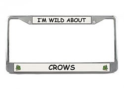 Crow License Plate Frame