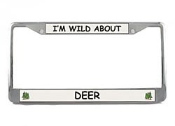 Deer License Plate Frame