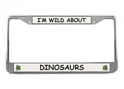 Dinosaur License Plate Frame