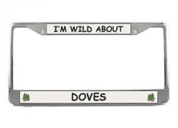 Dove License Plate Frame