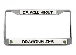 Dragonfly License Plate Frame