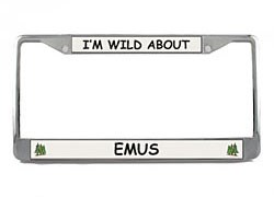 Emu License Plate Frame