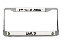 Emu License Plate Frame