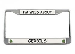 Gerbil License Plate Frame