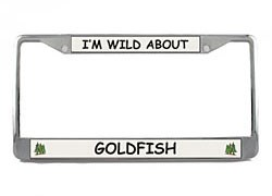 Goldfish License Plate Frame