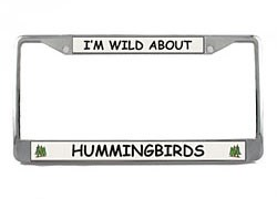 Hummingbird License Plate Frame