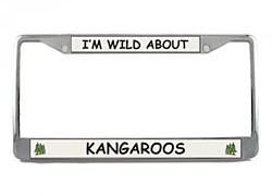 Kangaroo License Plate Frame