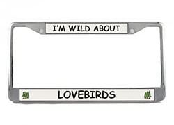 Lovebird License Plate Frame
