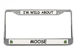 Moose License Plate Frame