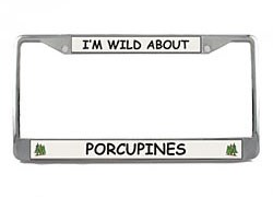 Porcupine License Plate Frame