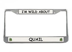 Quail License Plate Frame
