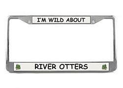 River Otter License Plate Frame