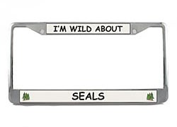 Seal License Plate Frame