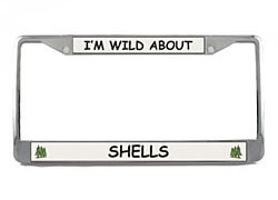 Shell License Plate Frame