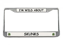 Skunk License Plate Frame