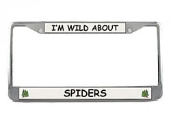 Spider License Plate Frame