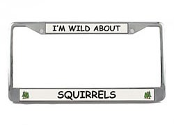 Squirrel License Plate Frame