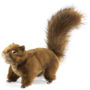 Squirrel in Tree Puppet