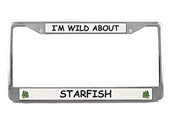 Starfish License Plate Frame