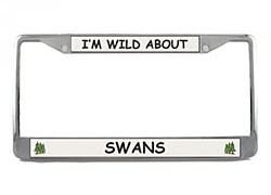 Swan License Plate Frame