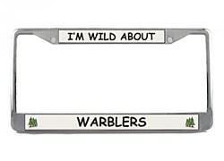 Warbler License Plate Frame
