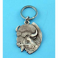 Pewter Buffalo Keychain