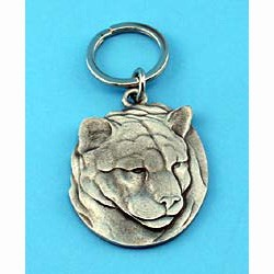 Pewter Cougar Keychain