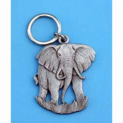 Pewter Elephant Keychain