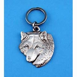 Pewter Wolf Keychain