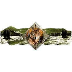 Wolf T-Shirt - Scenic