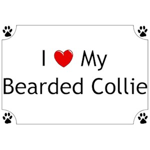 Bearded Collie T-Shirt - I love my