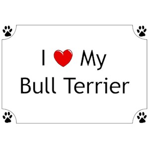Bull Terrier T-Shirt - I love my