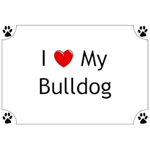 Bulldog T-Shirt - I love my