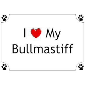 Bullmastiff T-Shirt - I love my