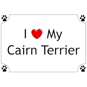 Cairn Terrier T-Shirt - I love my