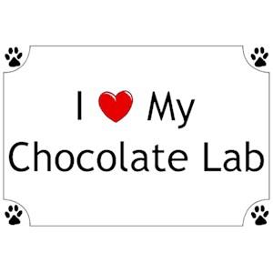 Chocolate Lab T-Shirt - I love my