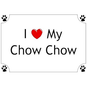 Chow Chow T-Shirt - I love my