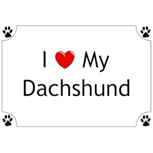Dachshund T-Shirt - I love my