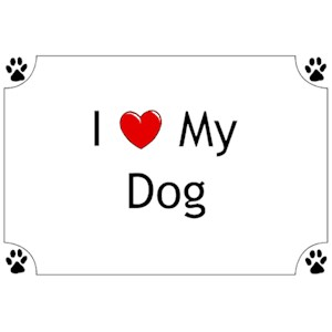 Dog T-Shirt - I love my Dog