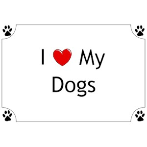 Dog T-Shirt - I love my Dogs