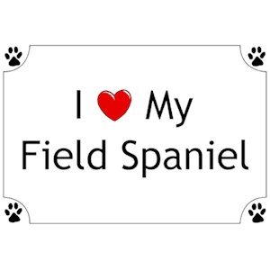 Field Spaniel T-Shirt - I love my