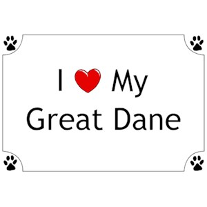 Great Dane T-Shirt - I love my
