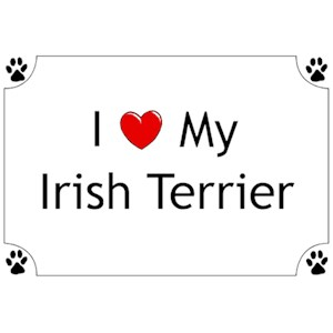 Irish Terrier T-Shirt - I love my