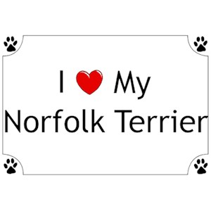 Norfolk Terrier T-Shirt - I love my