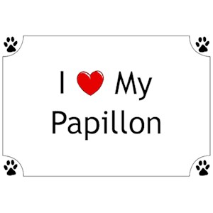 Papillon T-Shirt - I love my