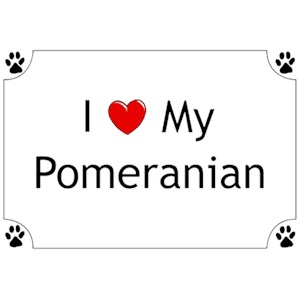 Pomeranian T-Shirt - I love my