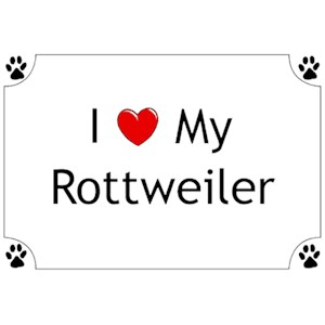 Rottweiler T-Shirt - I love my