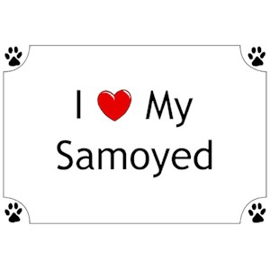 Samoyed T-Shirt - I love my