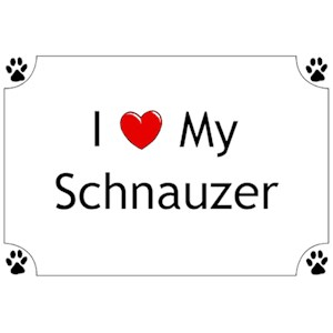 Schnauzer T-Shirt - I love my